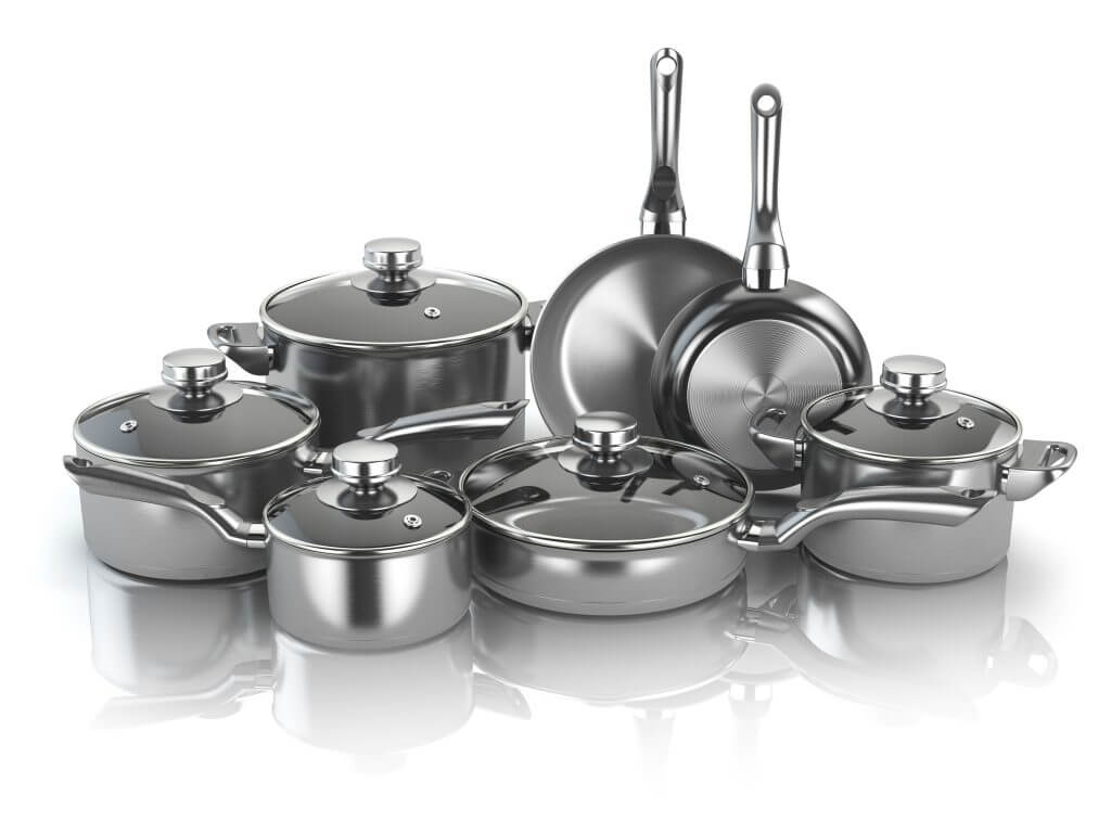 when downsizing take only the essential pots and pans