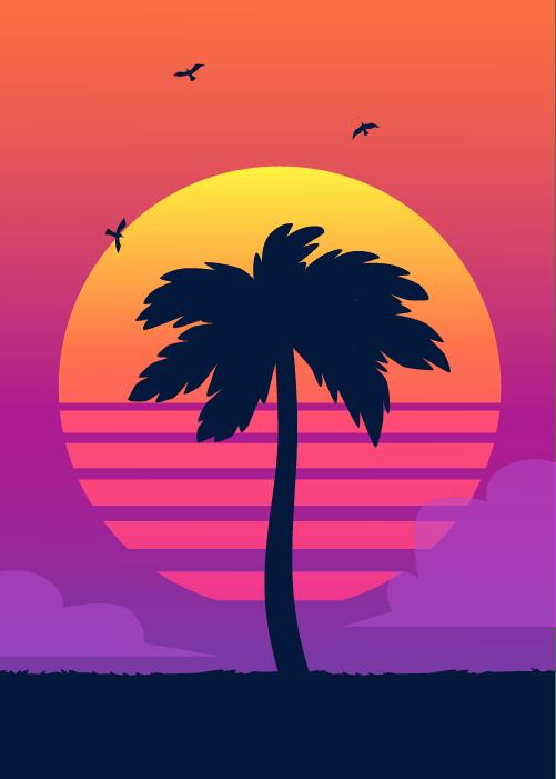 Orange County sunset