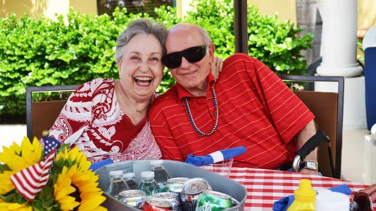 Shirley and Saul Happy Seacrest Residents